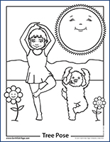 yoga coloring pages for kids - photo#16